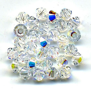 Bicone 3 mm - Crystal AB