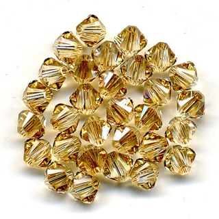 Bicone 4 mm - Crystal Golden Shadow